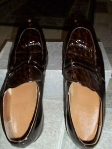 Men's Patent Leather Shoes and Flip flops