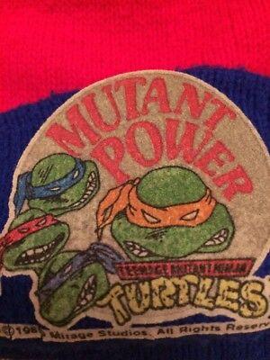 TEENAGE MUTANT NINJA TURTLES Black Winter Beanie Cap Knit Cap Hat Vintage TMNT