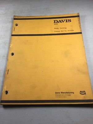 Davis Dh5 Trencher Parts Catalog