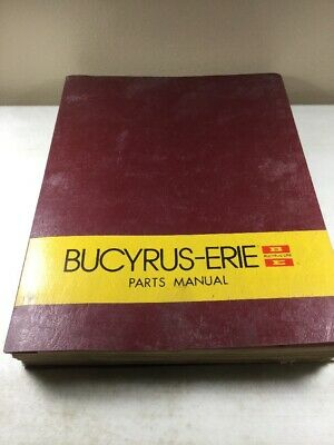 Bucyrus Erie 45c Crane Parts Catalog Manual Original