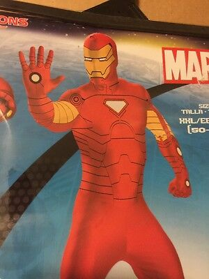 Iron Man Costume Adult XXL (50-52) Ship Priority - Adult Ironman Costume