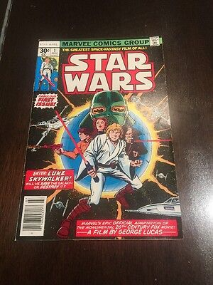 Star Wars (1977 Marvel) First Issue #1! 30 cents! Sharp Corners! White Pages!
