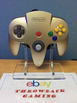 Brand New Clear Nintendo 64 Controller Acrylic DISPLAY STAND For Collectors! N64