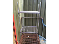 stainless steel catering 2 tier shelving unit in good condition
