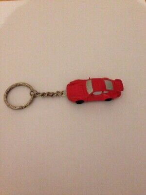 PORSCHE CLASSIC 911 SPORTSCAR RED KEYRING KEYCHAIN BAG CHARM NO RESERVE ONE ONLY