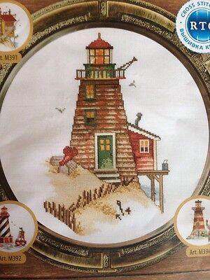 Lighthouse  Crab    Rto Counted Cross Stitch Kit Mpn M393