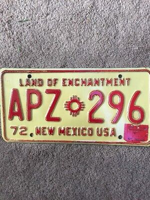 Original 1973 New Mexico License Plate - Nice!