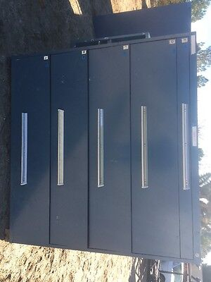 Used, Stanley Vidmar Modular Cabinet, 5-Drawer, Blue 5' Tall X 5' Wide