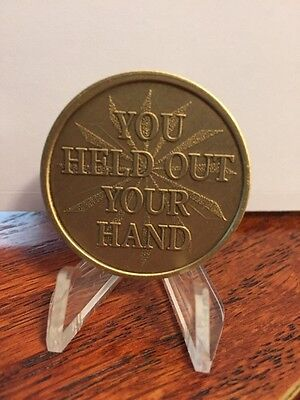 You Held Out Your Hand And Changed My Life Medallion Chip Coin Bronze Recovery