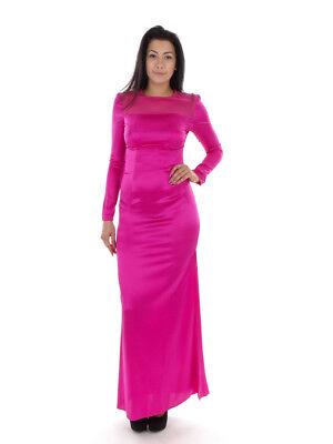 Richards Satin (Richard Kravetz Kleid Abendkleid Satinkleid pink transparent Zipper)