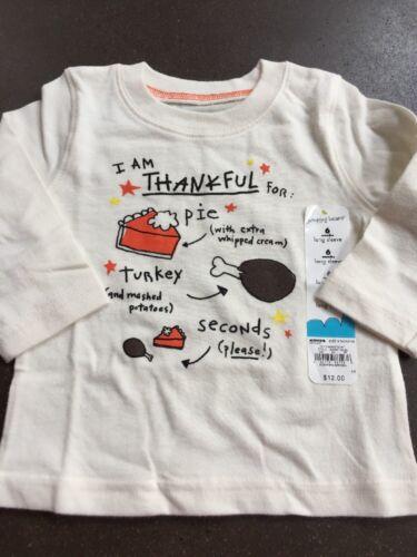 Boys Thankful For Pie & Turkey 6 Months Top NEW NWT $12 Shir