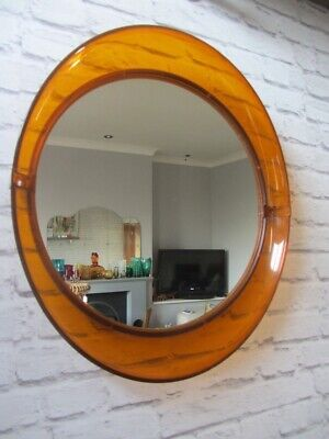Orange/Amber Retro Plastic Eye Mirror