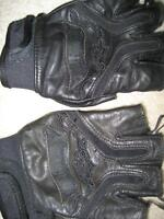 harley shorty leather gloves.
