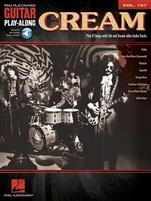Cream Sheet Music Guitar Play Along Book And Audio New 000701069