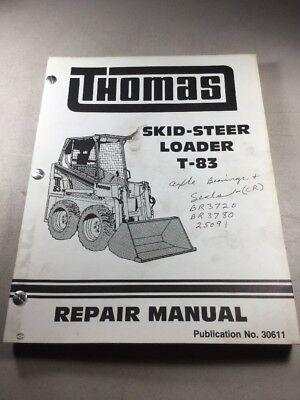 Thomas T-83 Skid Steer Loader Service-repair Manual