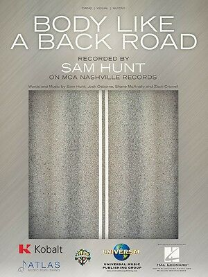 Body like a Back Road Sheet Music Piano Vocal Sam Hunt NEW 000233827