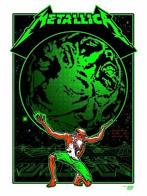 Official Metallica 2017 Met Life Stadium  East Rutherford Nj Poster Tour Edition