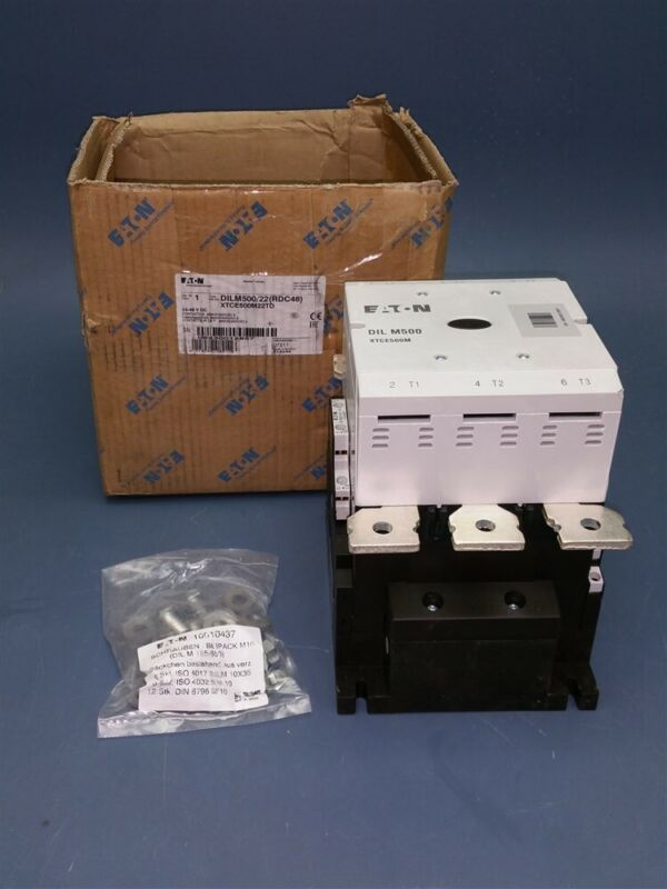 New Eaton Moeller Series 24-48 V DC Contactor DILM500/22(RDC48) XTCE500M22TD