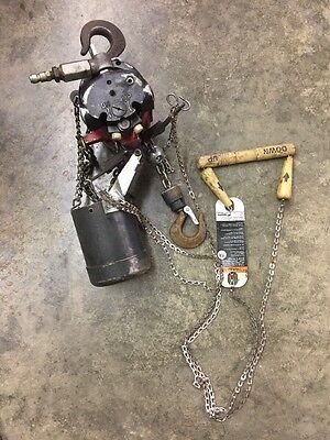 Ingersoll-rand Aro 14 Ton 550 Lb Pneumatic Air Chain Hoist 7718e-1c10-c6u