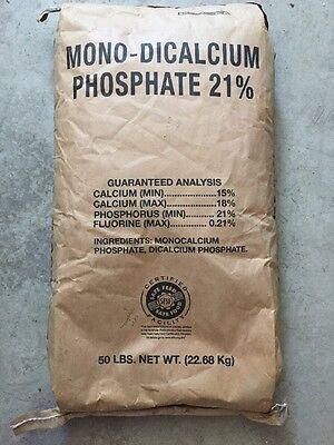 Dicalcium-phosphat (22.5kg Futter Klasse 21% Mono-Dicalcium Phosphat Fluor Kalzium Mineral Dical)