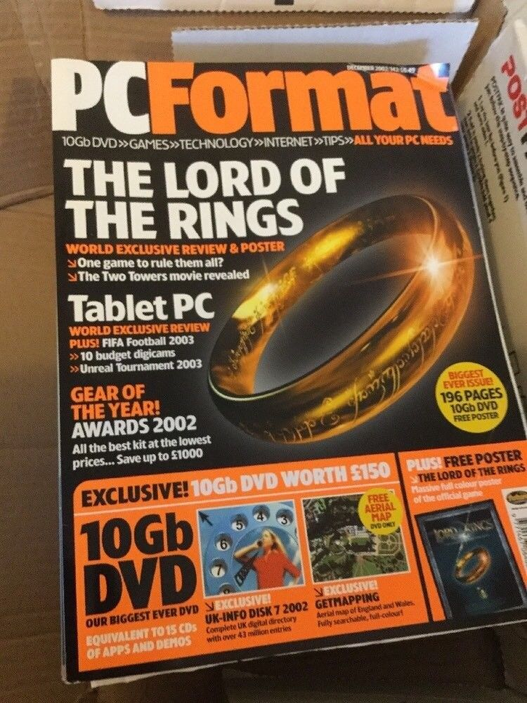 21 x PC Format Magazines - 2002 to 2004 + 17 DVDs