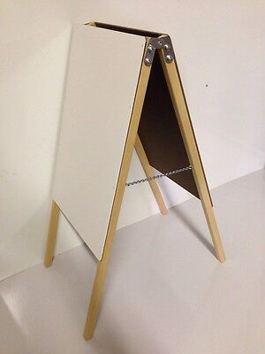 Tabletop Easel Double Side White Dry Erase Board Metal Hinges Table Top Display