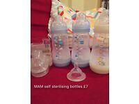 MAM Self sterilising bottles