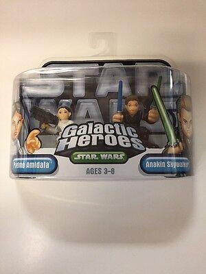 Star Wars Galactic Heroes Padme Anakin Figures New Sealed Hasbro (Padme Lightsaber)