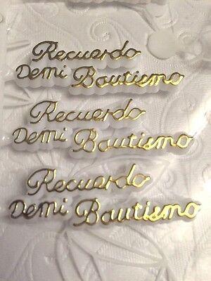 100+ Recuerdo De Mi Bautizo Sign, Baptism Favor or Cake Decorations - Baptism Decorations