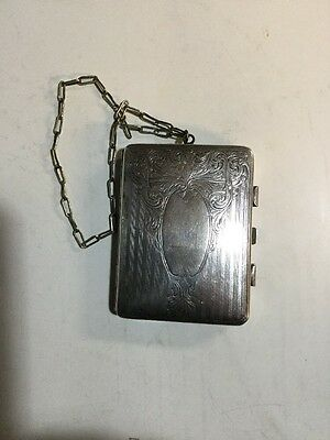 Victorian German Silver Dance Compact Purse Vanity Coin Case