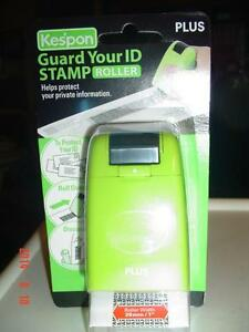 """PLUS KESPON"" GUARD YOUR ID STAMP ROLLER- HELPS TO RECYCLE PAPER Windsor Region Ontario image 1"