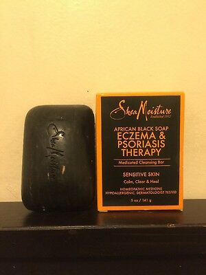 Shea Moisture African Black Soap Eczema & Psoriasis Therapy. Fast Shipping!!