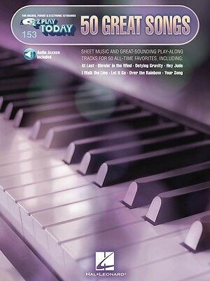 50 Great Songs Sheet Music E-Z Play Today Book and Audio NEW 000140981