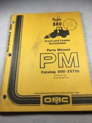 Mustang 880 Front-end Articulated Loader Parts Manual