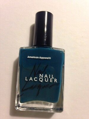 New American Apparel Nail Lacquer Discontinued Polish Royal Dark Blue Lazuh