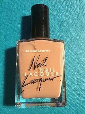 American Apparel Nail Lacquer Solid Tan Sandstorm Nude Discontinued HTF Polish