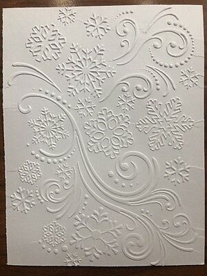 10 Sheets of Embossed Card Stock. Snowflakes #3