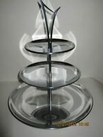 SPACE AGE MCM CHROME Serving tray vintage retro collectible