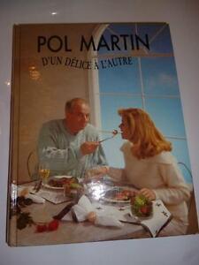 Livre de Recette: Pol Martin d'un délice à l'autre (165)