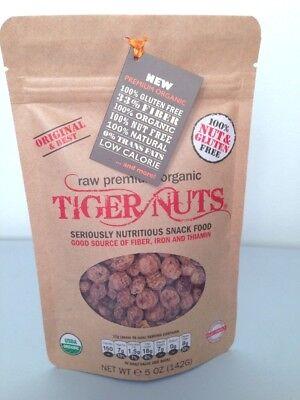 Tiger Nuts Organic Paleo Vegan Gluten Free Raw Prebiotic Snack Tigernuts 5oz Bag