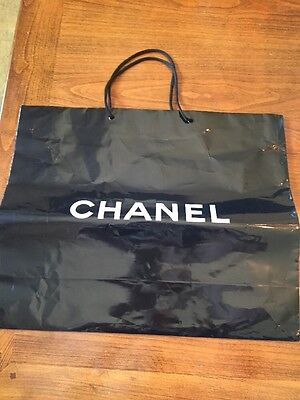 Large Chanel Black Shopping Bag Paper.