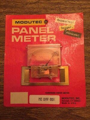 Modutec Me Dvv 001 Dc Volts Analog Panel Meter New