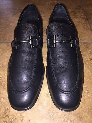 Salvatore Ferragamo Rigel Leather Loafers Size  10 1 2 Ee Black Retail  595