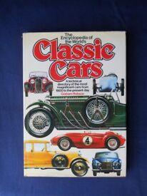Encyclopedia of Classic cars Graham Robson. Hardback, very good condition.