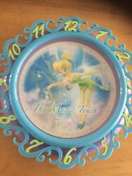 Disney Tinkerbell Fairy Battery Wall Clock Hologram Effect The Magic Touch