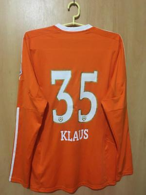 VADUZ LIECHTENSTEIN 2012/2014 MATCH WORN GK FOOTBALL SHIRT JERSEY KLAUS #35 image