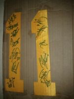 BOSTON BRUINS AUTOGRAPHED STANLEY CUP TEAM SIGNED NUMBERS