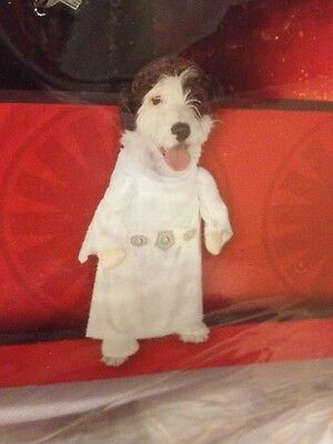 NEW Star Wars Princess Leia Pet Dog Cat Costume Size Large ~ FREE SHIPPING - Princess Leia Dog Costume