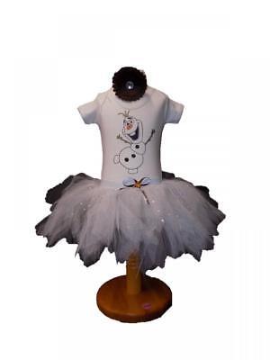 Baby Tutu Skirt Olaf Frozen Snowman Babygrow Sparkle Xmas Girls Fancy Dress - Olaf Tutu Kostüm
