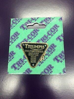 TRIUMPH PATENT PLATE BONNEVILLE BRASS!!! TRI-COR
